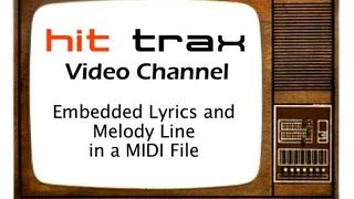 How to find MIDi Files with embedded lyrics and melody guide
