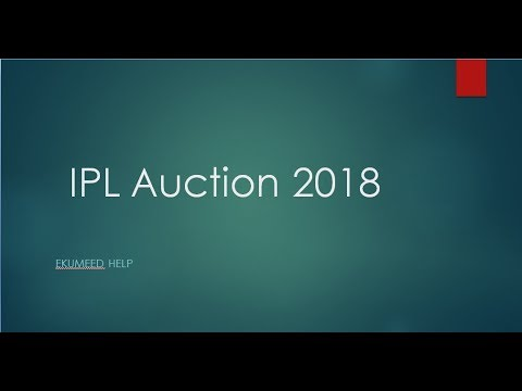 IPL Auction 2018 Live