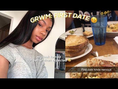 on a date kinda nervous