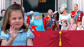 Watch Princess Charlotte copied the Queen's wave at Trooping The Colour