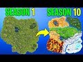 Evolution of the entire Fortnite island (Season 1 - Season 10)