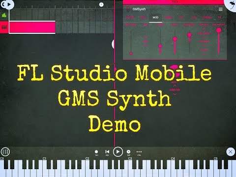 FL Studio Mobile - The GMS Synth - Preset Surfing and Tour - Demo for the iPad