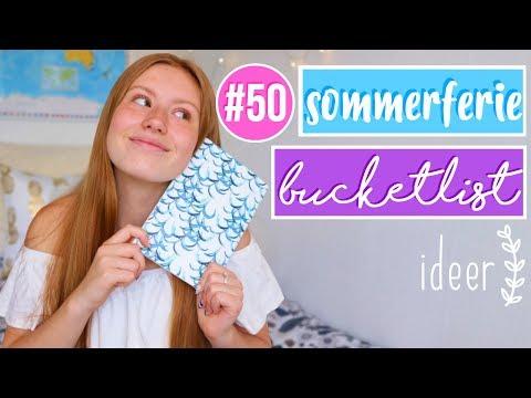#50 sommer bucketlist ideer // ting du kan lave om sommeren