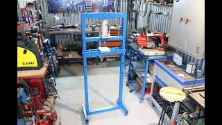 pressa idraulica fai da te (homemade hydraulic press)