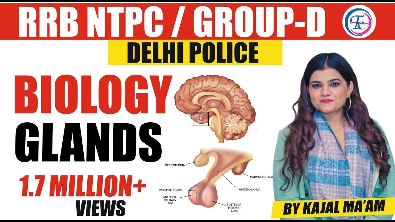 BIOLOGY | Glands (ग्रंथिया) Part -3 | RRB NTPC,Group -D | THEORY BATCH | By Kajal Ma'am
