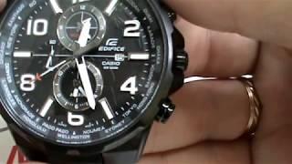 Обзор. Наручные японские мужские часы Casio Edifice EFR-302BK-1A черного цвета на браслете