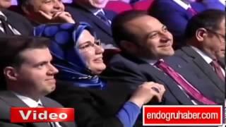 Emine Erdoğan Başbakan'ın taklidine çok güldü