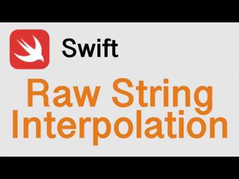 How To - Swift 5 - Raw String Interpolation Tutorial thumbnail