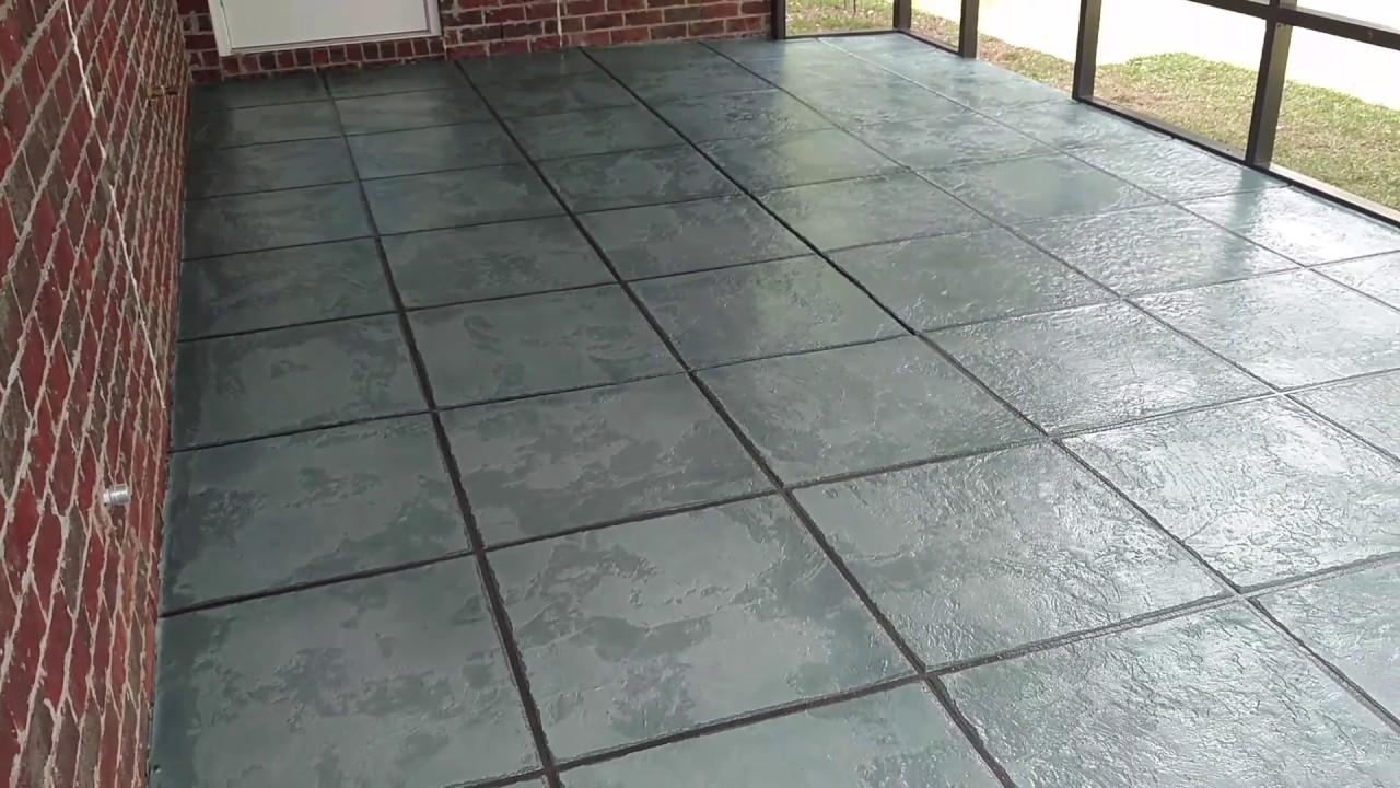 Concrete Resurfacing Tile Design Youtube