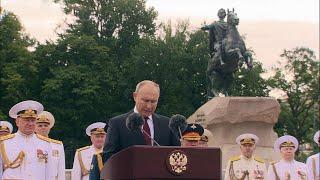 В Санкт-Петербурге состоялся Главный военно-морской парад в честь Дня ВМФ.