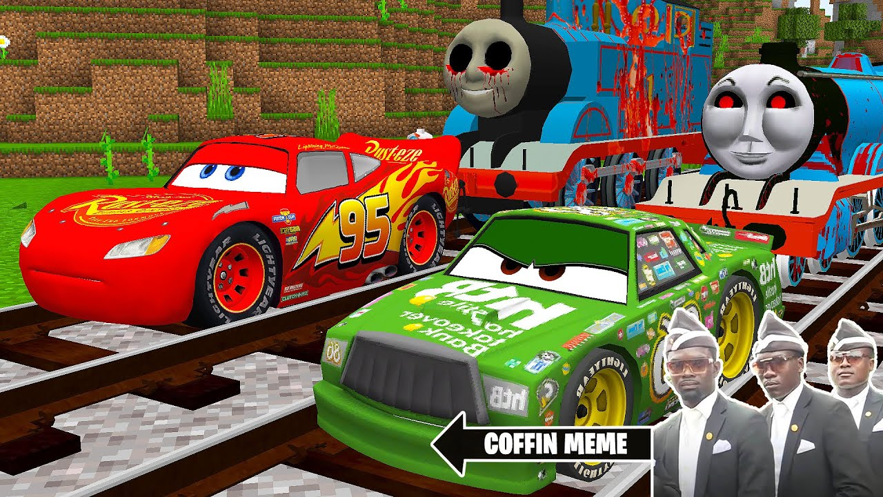 Download THOMAS THE TANK ENGINE.EXE and FRIENDS vs LIGHTNING MCQUEEN in Minecraft - Coffin Meme SONIC vs CARS