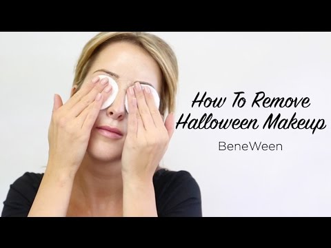 Benefit Halloween| How To Remove Halloween Makeup - YouTube