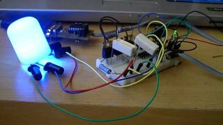Repeat youtube video RGB Led controlled by a computer serial interface using PIC18F1320 and VB.net an example