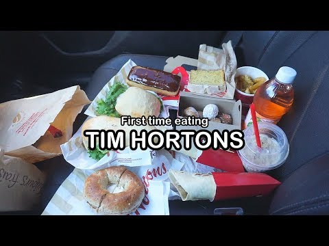 First time eating TIM HORTONS