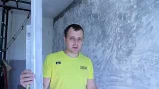 видео Выравнивание стен по маякам.