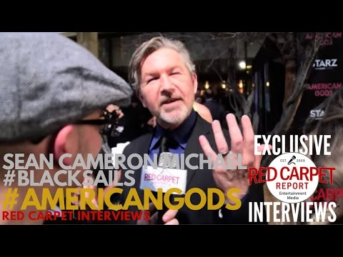 "Sean Cameron Michael #BlackSails interviewed at premiere of Starz ""American Gods"" Series"