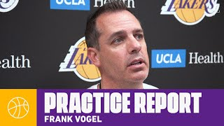 Frank Vogel gives his takeaways from yesterday's practice   Lakers Practice