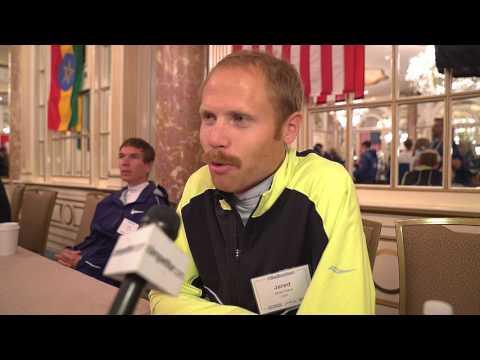 2017 Boston Marathon Press Conference: Jared Ward