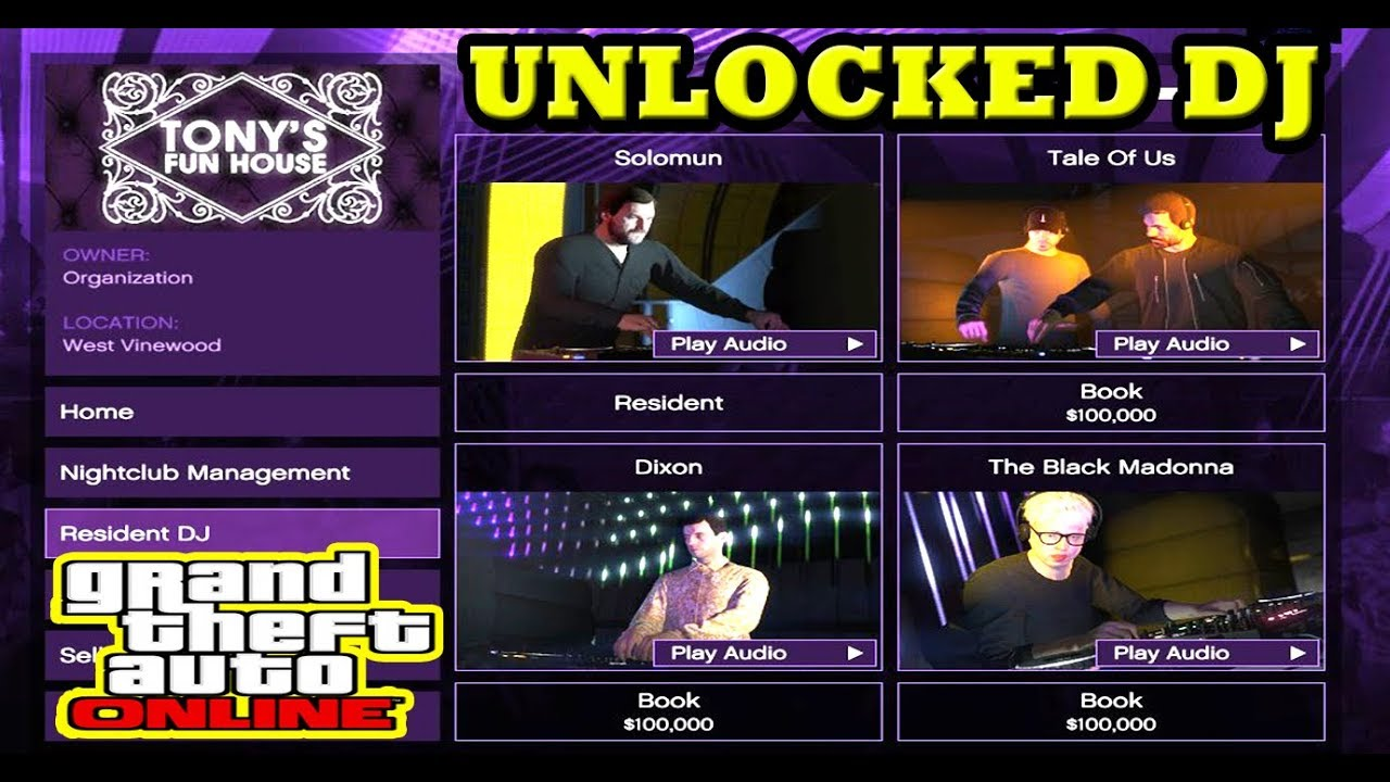GTA 5 HOW TO HIRE AND UNLOCKED MORE DJ FOR YOUR NIGHTCLUB DLC ONLINE