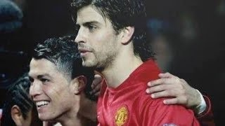 Cristiano Ronaldo and Gerard Pique before they were rivals