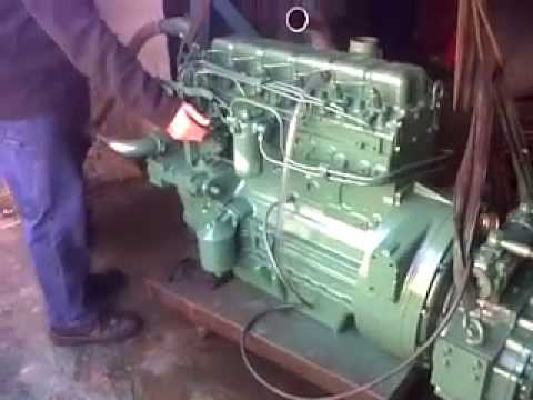 Diesel Engine Working >> Perkins 6.354 :5th start with gearbox - YouTube