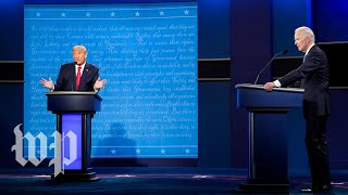 Trump and Biden's final debate before Election Day, in 3 minutes