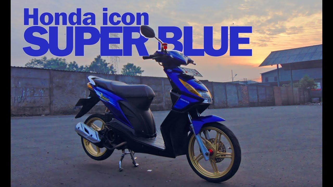 Modifikasi Motor Beat Karbu Warna Biru Zona Ilmu 8