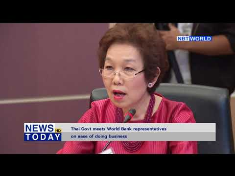 Thai Government meets World Bank representatives on ease of doing business