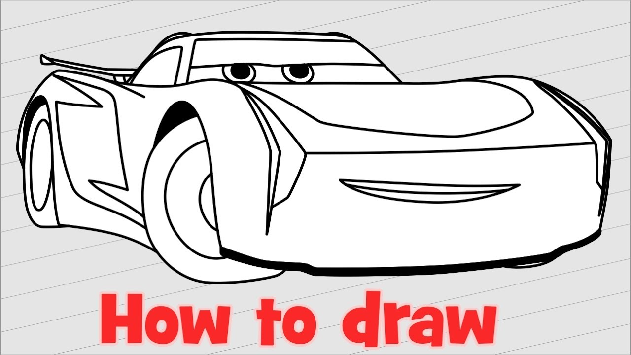 How To Draw Jackson Storm From Cars 3