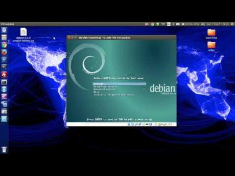 debian server install in virutalbox - step by step