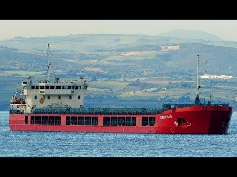General Cargo Ship DORADO PLUS Floating On Sea