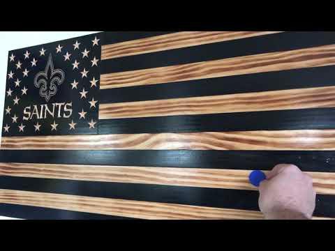 Wooden Flag Hidden Gun Safe