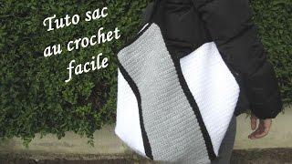 TUTO SAC AU CROCHET FACILE Easy bag crochet BOLSO CROCHET BOLSA DE GANCHILLO