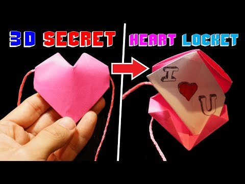 How to Make a 3D Origami Heart Locket - Rob's World