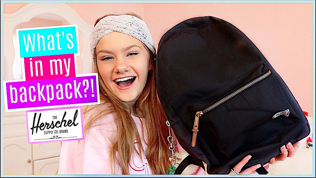 WHAT S IN MY BACKPACK 2018! (Herschel Settlement Backpack) - YouTube 1e8f9641a40b5