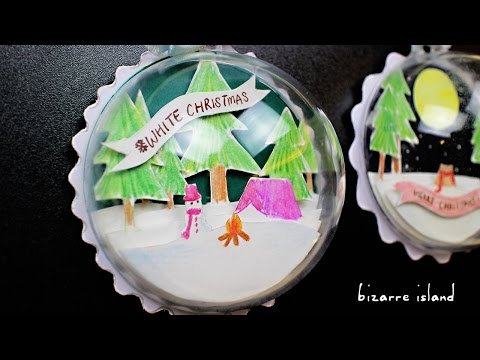 Handmade Scenic Ornament - DIY Gifts | c for craft
