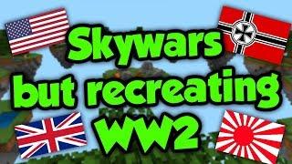 WW2 But It's Minecraft Sky Wars Instead