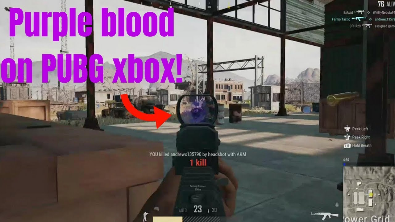 HOW TO GET PURPLE BLOOD IN PUBG - Xbox one X PUBG Tips N