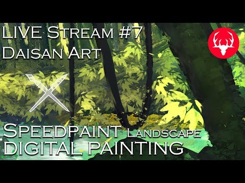 Speedpaint – Landscapes – ☻LIVE #7 – Malarstwo Cyfrowe – Digital Painting – Daisan Art PL ENG