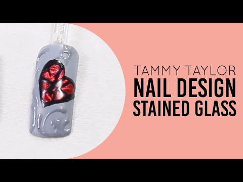 ❤ Tammy Taylor Stained Glass Nail Design By Gisela Marti