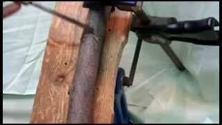 How To Carve A Wood Spirit On A Walking Stick. #1