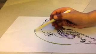 How to draw a crazy flower