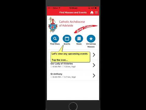 Adelaide & Port Pirie  Mass App (Find masses south Australia)