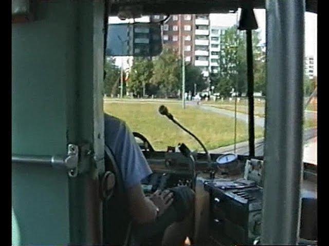Führerstandsmitfahrt Linie 13 im Jahr 1995