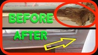 Restoring Window / Wood Rot | Turbo Builders Bog - Wood Filler | How to DIY