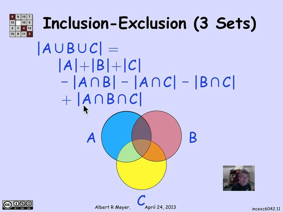 353 Inclusion Exclusion Example Video Youtube