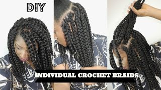 Diy Crochet Box Braids : DIY INDIVIDUAL CROCHET BOX BRAIDS NO CORNROWS NEEDED