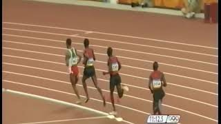 KENENISA BEKELE VS. ElLIUD KIPCHOGE 2008 OLYMPIC 5000 METER FINAL - LAST 800 METERS