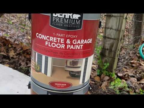 GARBAGE - Behr Garage 1 part epoxy paint installation and result- GARBAGE!