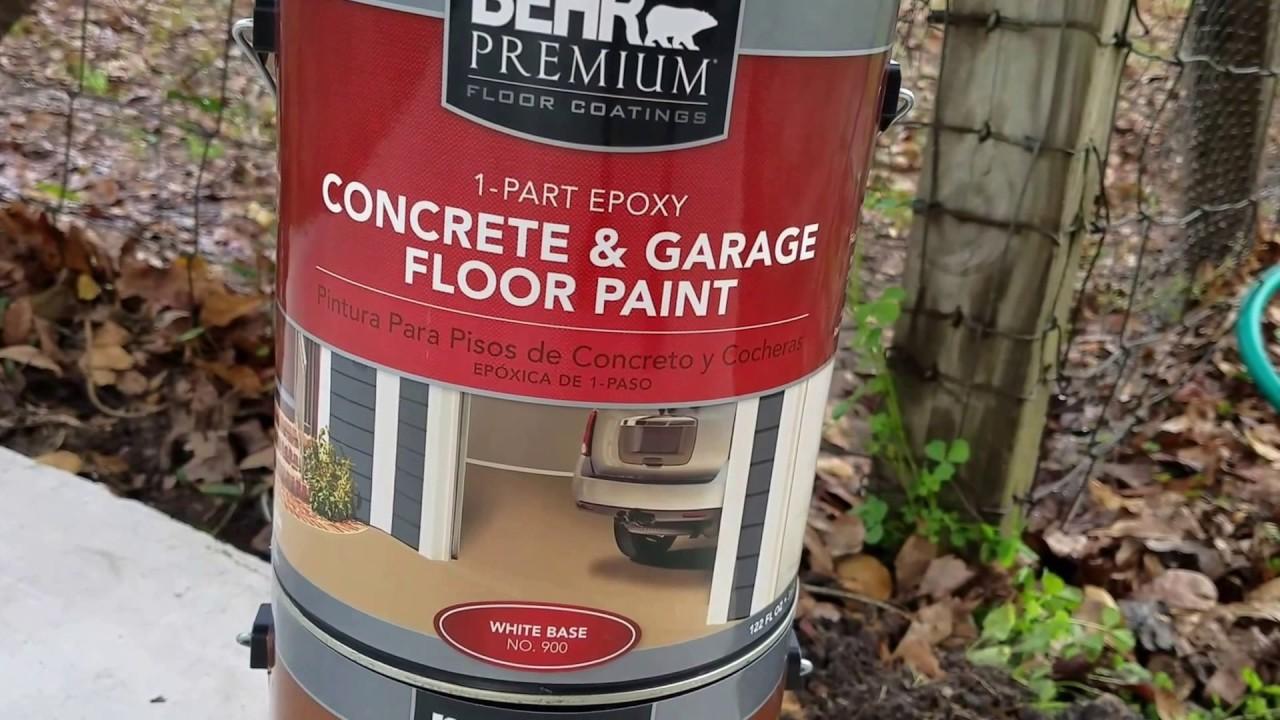 Garbage Behr Garage 1 Part Epoxy Paint Installation And